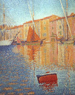 Paul Signac. The red buoy