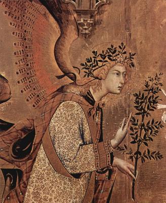 Благовещение, деталь: Благовествующий ангел