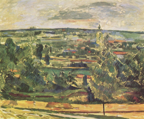 Paul Cezanne. Landscape in Ms. de Bouffan