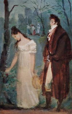 Konstantin Ivanovich Rudakov. A date between Onegin and Tatiana Onegin