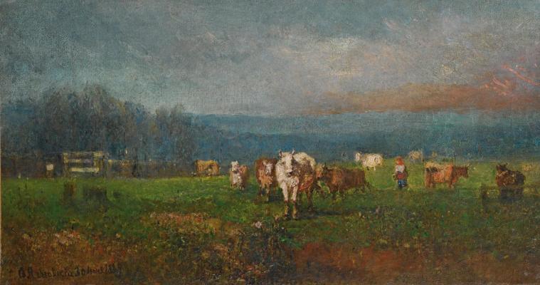Fedor Ivanovich Yasnovsky. Landscape. 1884 Private collection