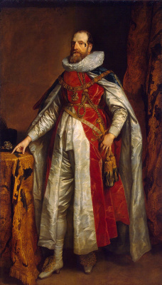 Антонис ван Дейк. Портрет графа Денби в костюме кавалера ордена Подвязки