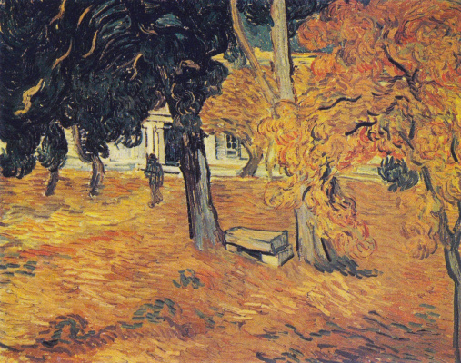 Vincent van Gogh. Park of the hospital Saint-Paul in Saint-Remy