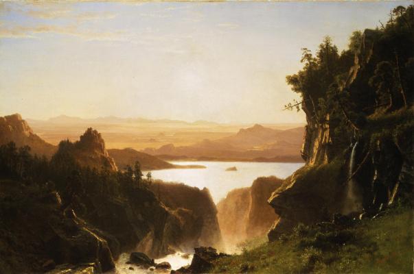 Albert Birštadt. Island lake, Wyoming
