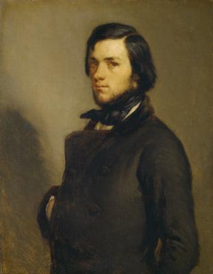 Jean-François Millet. Portrait of a Man