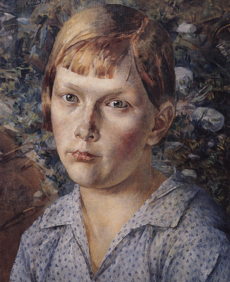 Kuzma Sergeevich Petrov-Vodkin. The girl in the forest