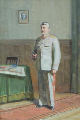 Петр Степанович Сулименко. Портрет Сталина 1950-е