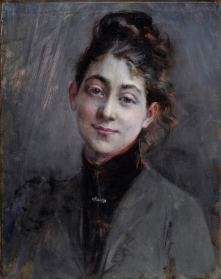 Portrait of a young woman. 1890-1895