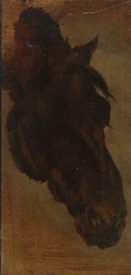 Генриетта Роннер-Книп. Голова лошади II