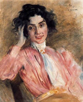 Lovis Corinto. Portrait Of Santa Bra