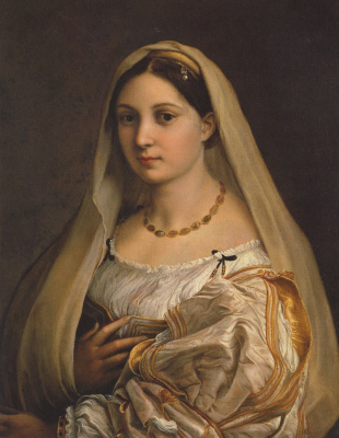 Raphael Santi. Donna Velata (the veiled Woman, portrait Fornarina)