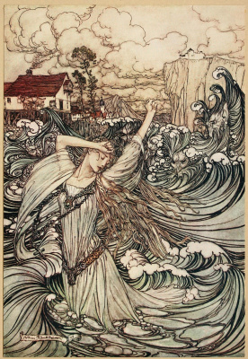 "Arthur Rackham. Illustration for the tale ""Undine"""