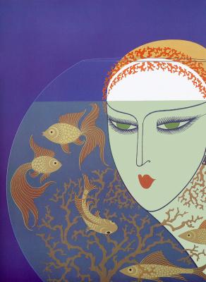 "Romain Tirtoff. Aquarium. Series ""memories of the twenties"""