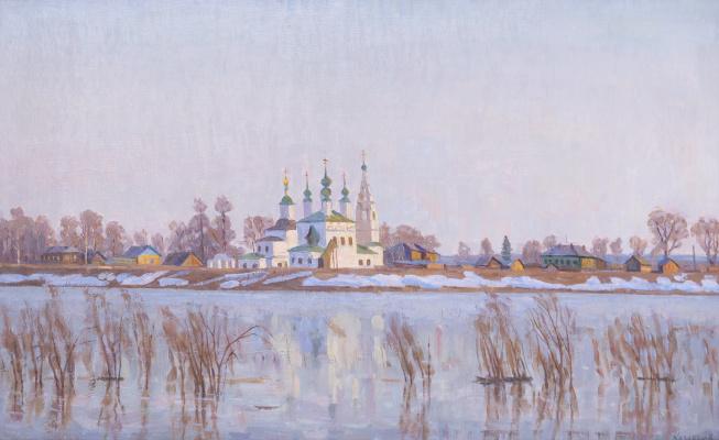 Eugene Alexandrovich Kazantsev. Early spring on the Dvina. The Great Ustyug.