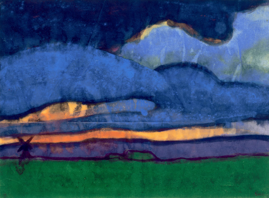 Emil Nolde. Landscape with a windmill