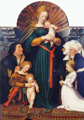 Hans Holbein The Younger. Darmstadt Madonna, or Madonna Mayer