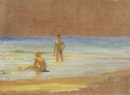 Nikolai Nikolaevich Ge. The boys at the beach. Etude