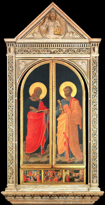 Fra Beato Angelico. Linayolskaya tabernacle (flaps closed)