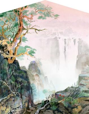 Smbat Arayevich Bagdasaryan. Waterfall
