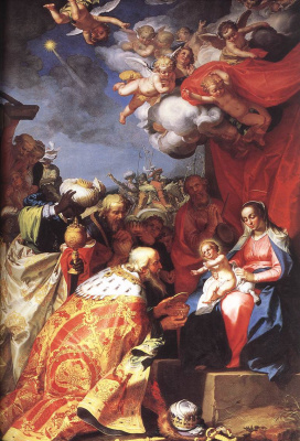 Abraham Bloomart. The adoration of the Magi