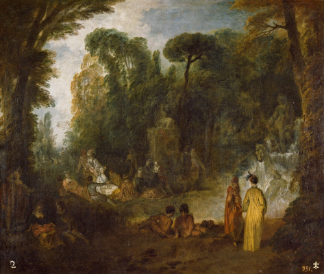 Antoine Watteau. Holiday in the Park