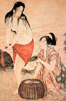Kitagawa Utamaro. The divers for pearls