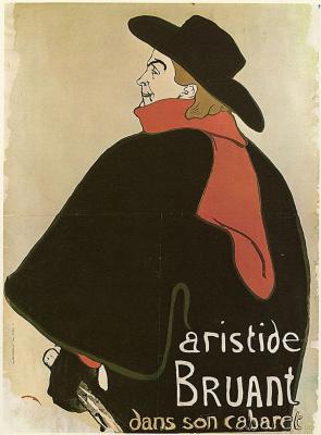 "Henri de Toulouse-Lautrec. The poster ""He in his cabaret"""