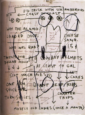 Jean-Michel Basquiat. Mostly old women