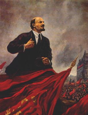 Alexander Mikhailovich Gerasimov. V. I. Lenin on the podium