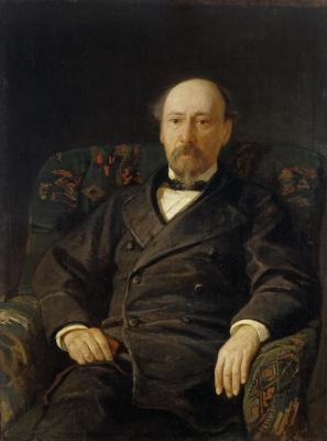 Nikolai Nikolaevich Ge. Portrait Of Nikolai Nekrasov. Repetition