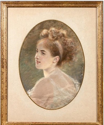 Fedor Petrovich Chumakov. Estimated portrait of Princess Tolstoy.
