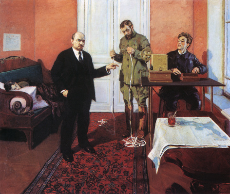 Igor Nobel Grabar. V. I. Lenin at the direct line