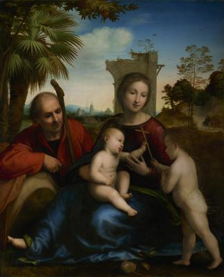 Фра Бартоломео. Rest on the Flight to Egypt with St. John the Baptist