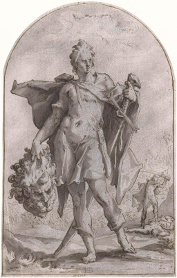 Hendrik Goltzius. David with the head of Goliath. 1586-1590