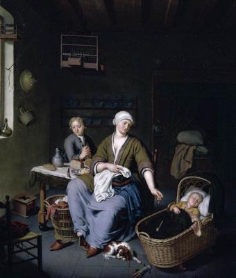 Франс ван Мирис Младший. Мать