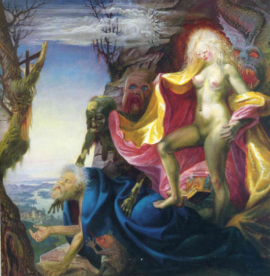 Otto Dix. The temptation of St. Anthony