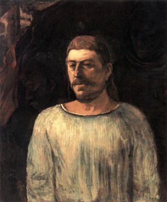 "Paul Gauguin. Self-Portrait ""At Calvary"""