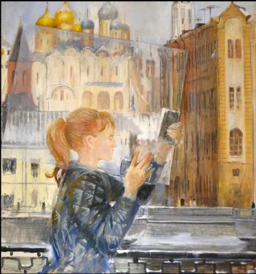 Yuri Ivanovich Pimenov. A piece of glass