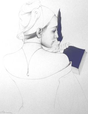 Ольга Акаси. Black White Pages (right art)