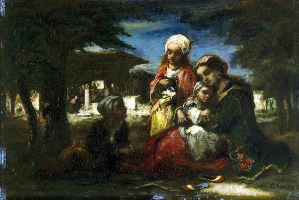 Нарсис Виржилио Диас де ла Пёнья. Турецкая семья