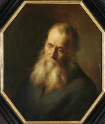 Jan Livens. Portrait of an elderly man with a beard