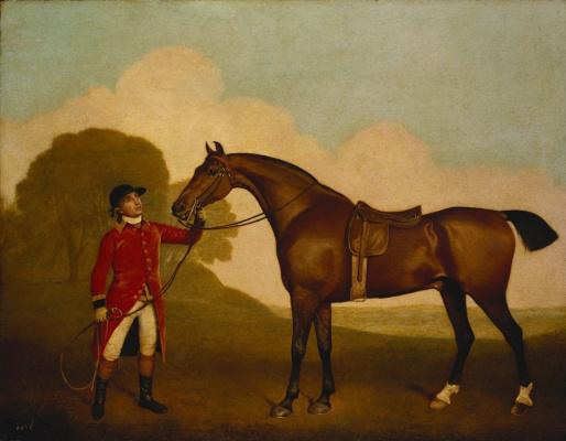 George Stubbs. Horse with jockey