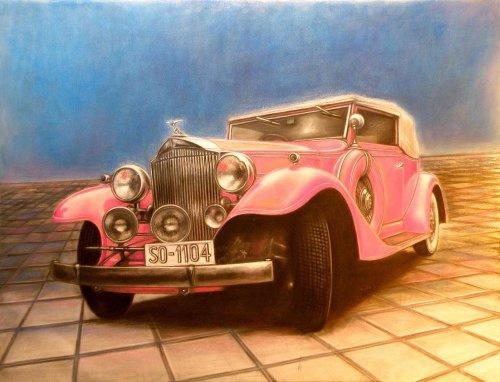 Barbara Vitkovska. Packard, 1931, pastel