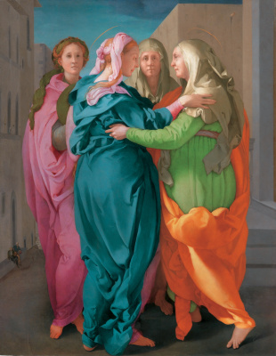 Jacopo Pontormo. The meeting of Mary and Elizabeth