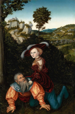 Lucas Cranach the Elder. Aristotle and Phyllis. Private collection