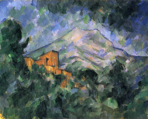 Paul Cezanne. The mount of St. Victoria (Sainte Victoire) and castle Black