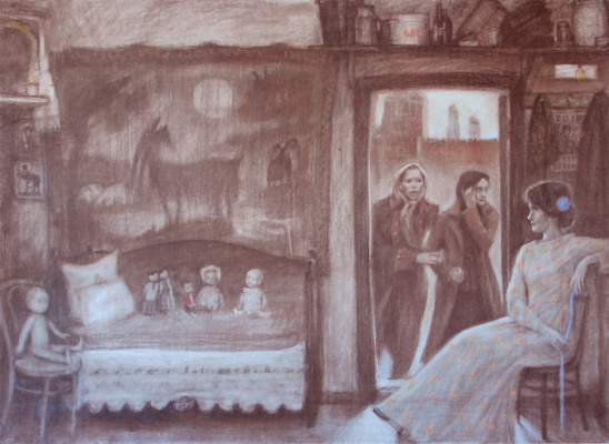 Sergey Bereg. Winter on Ilyinka