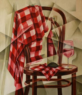 Vasily Krotkov. Roadside picnic. Kubofuturizm