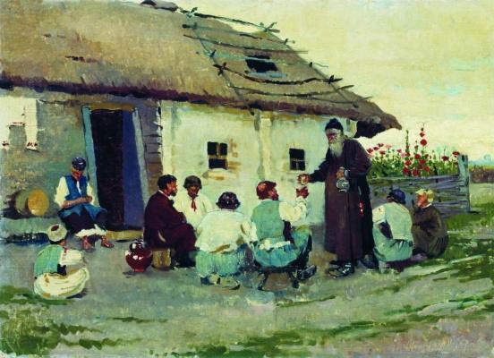 Sergey Arsenievich Vinogradov. The tavern