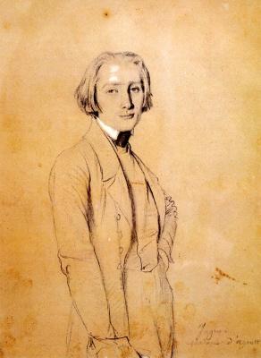 Jean Auguste Dominique Ingres. Franz Liszt
